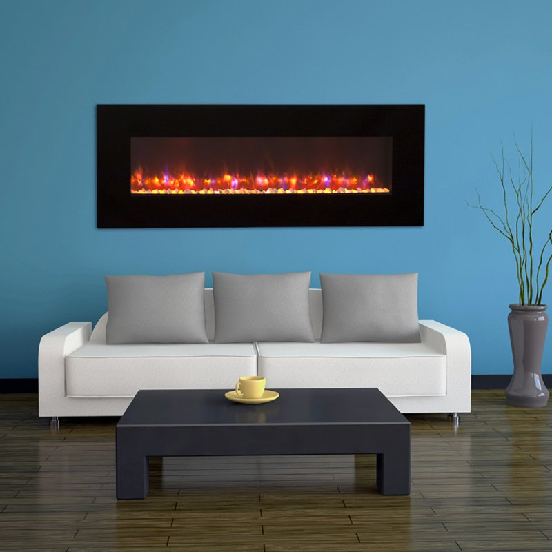 GreatCo Gallery Linear Electric LED Fireplace - 50 in.