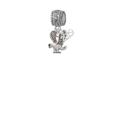 Silvertone Small Eagle - Mascot - 2019 Congraduations Charm Bead