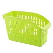 Fridge Plastic Hollow Out Design Vegetables Fruits Storage Box Container Green