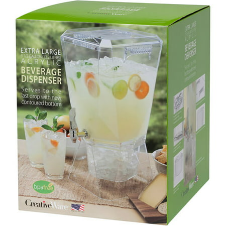 Crown 3.5-Gallon Beverage Dispenser with Base/Spigot and Spigot Name Clip