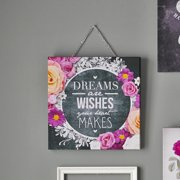 Graham & Brown Spring 2015 Chalkboard Dreams and Wishes Graphic Art on Wrapped Canvas