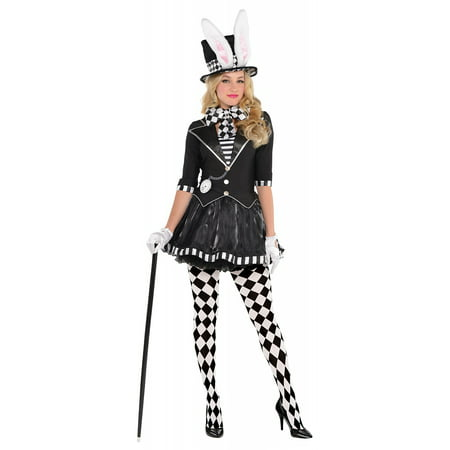 Dark Mad Hatter Adult Costume - Large - Female Mad Hatter Costumes