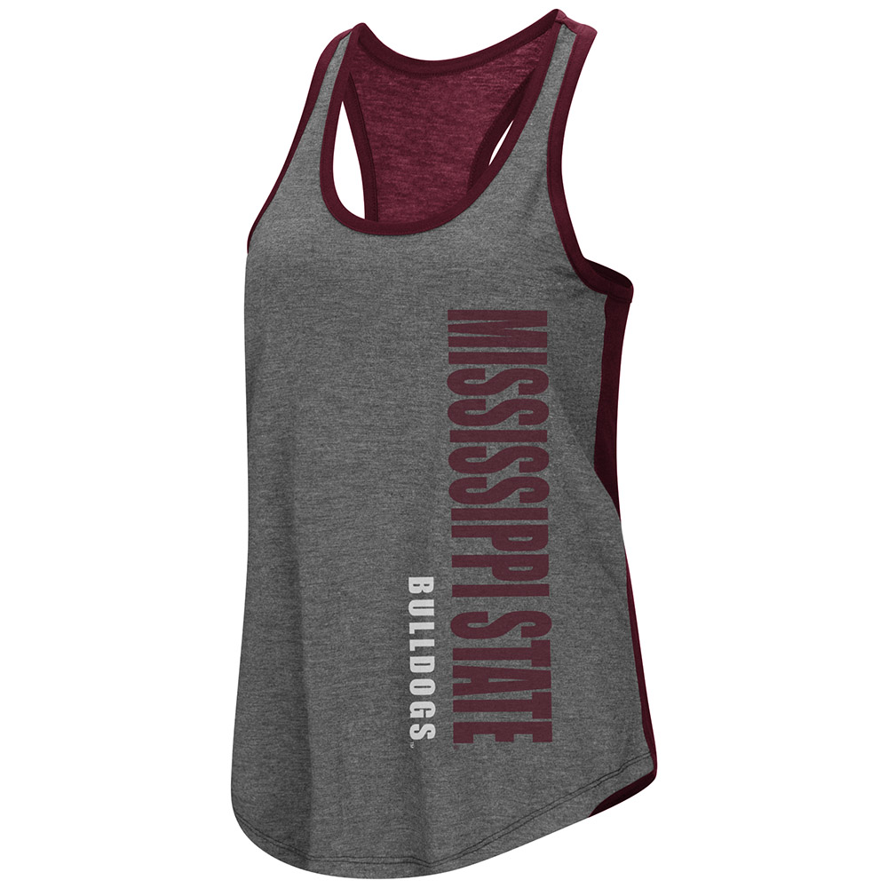 """Mississippi State Bulldogs Women's NCAA """"Share It"""" Dual Blend Racerback Tank Top"""