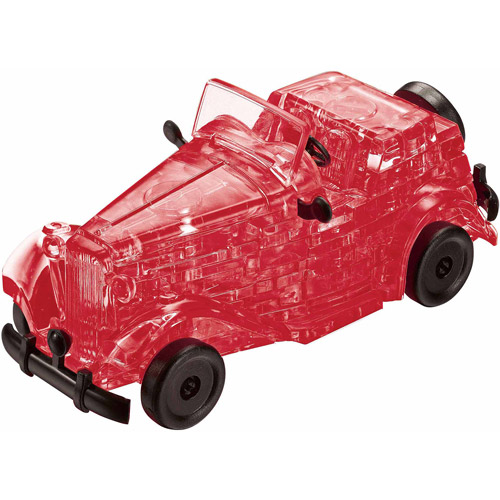 3D Crystal Puzzle, Red Classic Car 53 Pcs