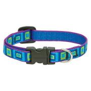"Lupine Collars and Leads 73234 1/2"" x 8""-12"" Adjustable Sea Glass Design Dog Collar"