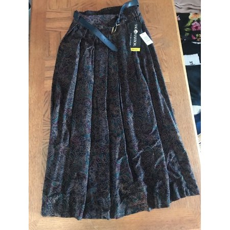 Sag Harbor Womens Skirt With Belt Size S