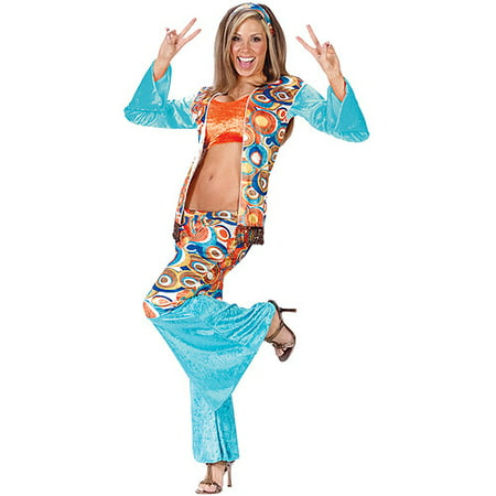 Hippie Chic Adult Halloween Costume](70s Hippie Outfit)