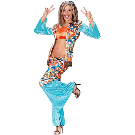 Hippie Chic Adult Halloween Costume - Teen Hippie Costume