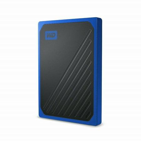 WD 500GB My Passport Go SSD Cobalt Portable External Storage, USB 3 0 -  WDBMCG5000ABT-WESN