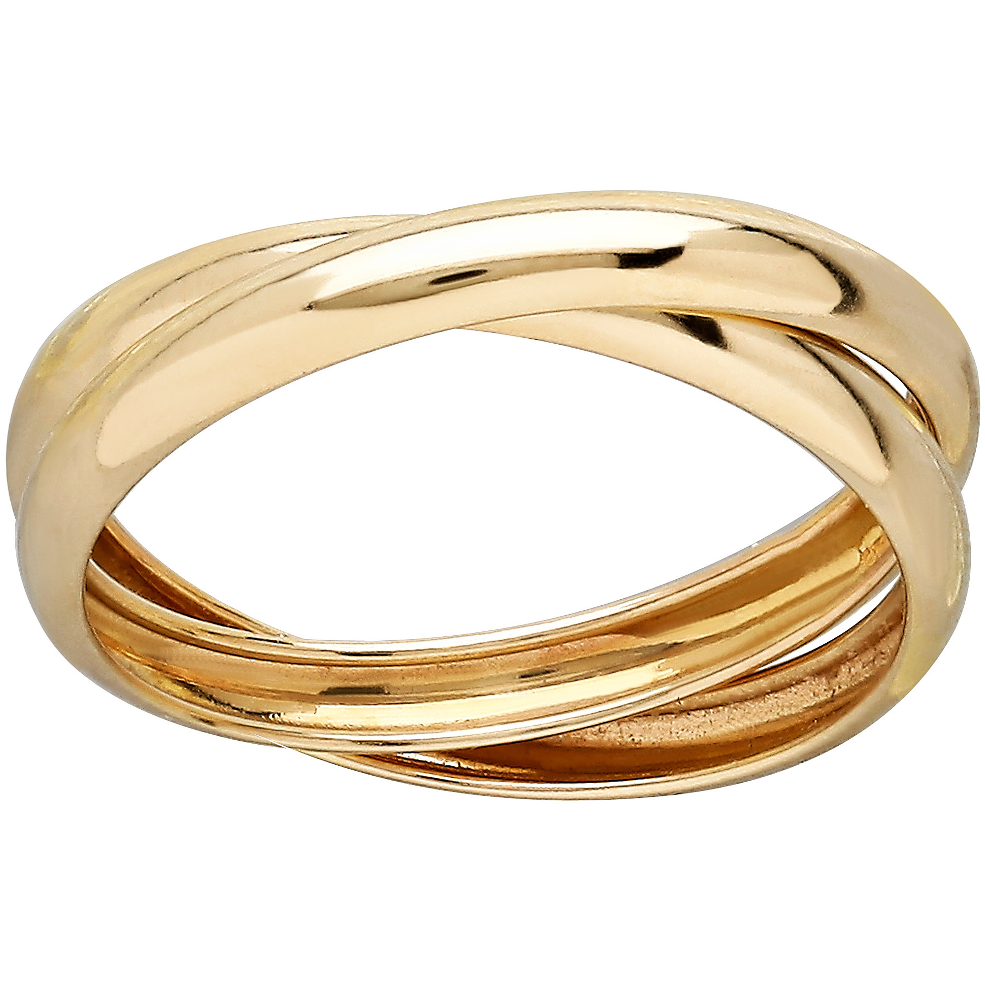 Simply Gold 10kt Yellow Gold Double Rolling Size 7 Ring
