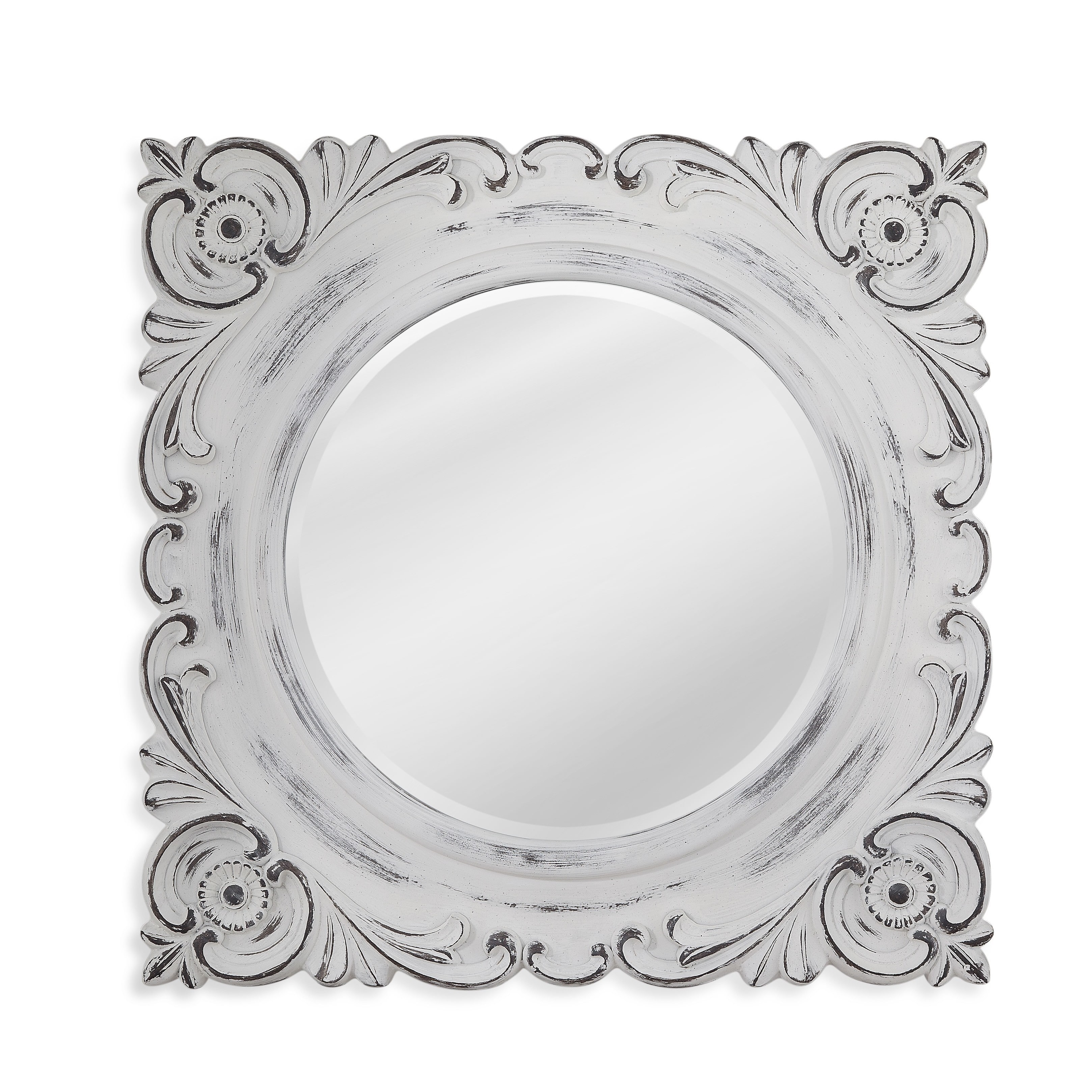 Bassett Mirror Company Tulla Distressed Resin Wall Mirror by Overstock