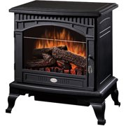 "Dimplex 25"" Traditional Electric Stove with Bevelled Glass Detailing, Matte Black"