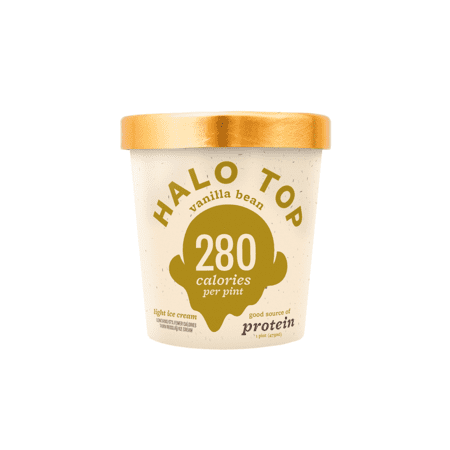 Halo Top, Vanilla Bean Ice Cream, Pint (8 Count)
