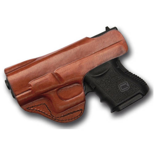 Tagua IPH-357 In The Pants Holster For Glock 43 RH Brown Leather