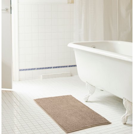 Taupe Chenille Bath Rug