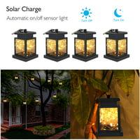 1~10 PackSolar Lights Outdoor Hanging Solar Lantern , Solar Garden Lights for Patio Landscape Yard, Warm White star, Dusk to Dawn Auto Sensor On Off