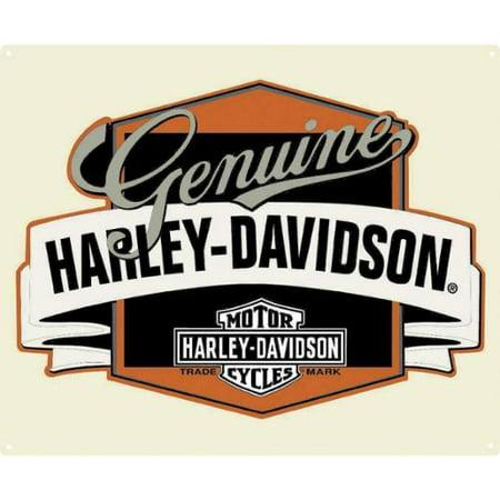 Harley Davidson Room Decor (Harley-Davidson Genuine H-D Banner Tin Metal Sign 14 x 17 Inch  2010241, Harley)