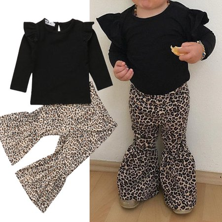 2PCS Toddler Girls Kids Winter Casual Top+Pant Leggings Outfits Sets - Winter Clothes Girls