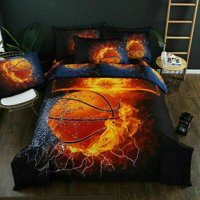 3D Basketball Printing Bedding Sets Soft and Comfortable Bed Linens Bedding 100% Polyester Duvet Cover Sets