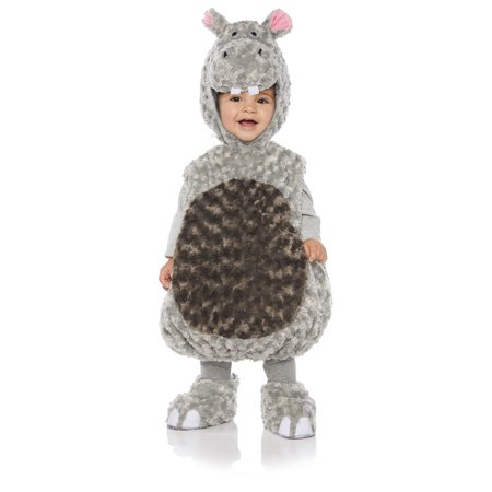 Hippo Girls Toddler Grey Belly Baby Plush Fluffy Animal Costume for $<!---->