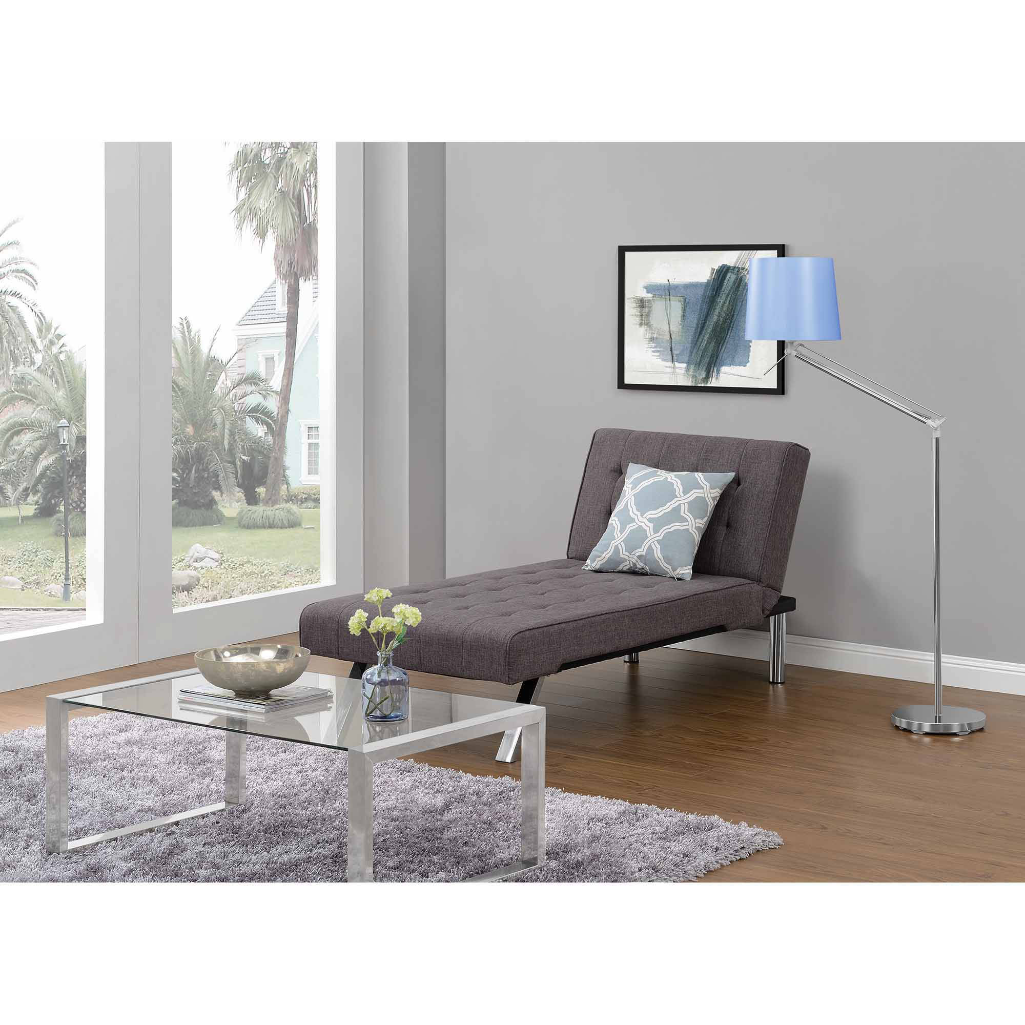Emily Futon Chaise Lounger Multiple Colors