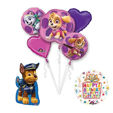 PAW PATROL SKYE EVEREST Party Balloons Decoration Supplies 35 Inch Chase Foil