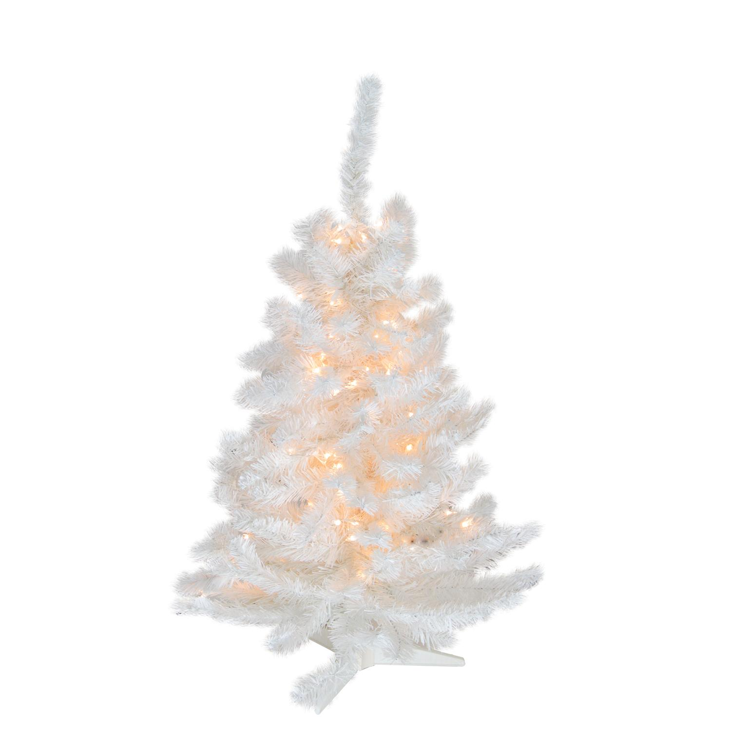 National Tree 7ft Pre-Lit North Valley Spruce Hinged Artificial ...