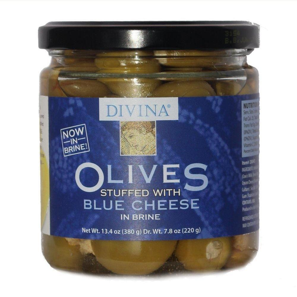 6 Pack :       Divina Olives Stuffed With Blue Cheese, 7.8-ounce Jars