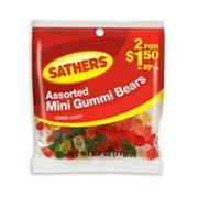 Sathers Mini Gummi Bears 12 pack (2.7oz per pack) (Pack of 3)
