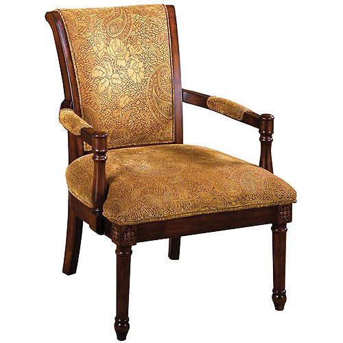 Venetian Stockton Upholstered Accent Chair, Antique Oak