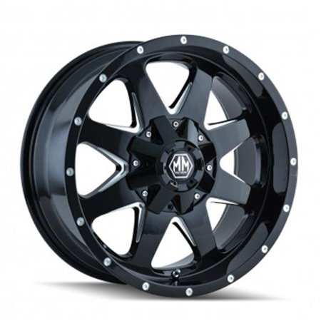 Mayhem 8040-8997B 5-150, 5-139.7 PCD Tank Black Milled Spokes Wheel - image 1 of 1