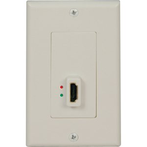 Tripp Lite HDMI Display-Side Wallplate with Active Signal Booster, White (F/F)