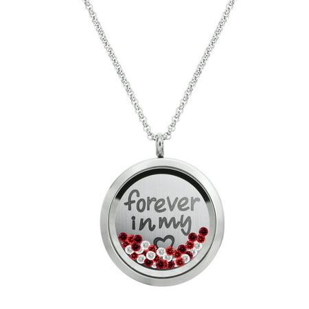 Forever Love Sweet 16 Floating Locket Crystal Charm Pendant Necklace - Forever Love](Floating Charm Necklace)