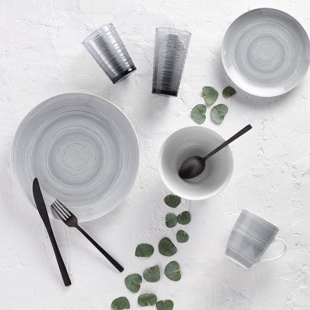 Harvest Porcelain Dinnerware (Safdie & Co. 16-Piece Porcelain Dinnerware Set, Grey Stone )