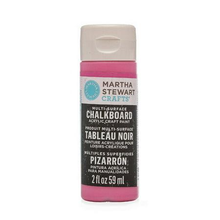 Martha Stewart Crafts Multi-Surface Chalkboard Paint: Raspberry Ice, 2