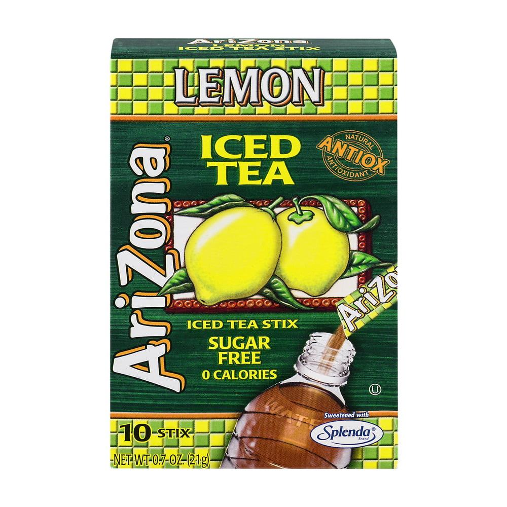 AriZona Iced Tea Stix Sugar Free Lemon - 10 CT