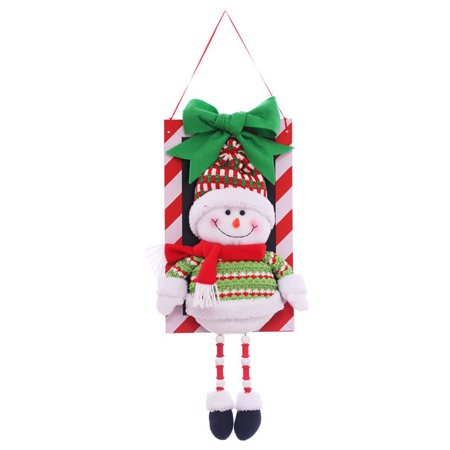 Snowman Pendant Christmas Decorations Christmas Window Ornaments Outdoor Indoor Decorative Signs