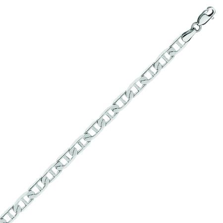 14K White Gold Mariner Chain in 18 inch, 20 inch, 22 inch, 24 inch, & 30 inch