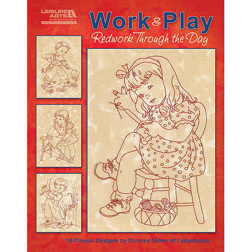 Leisure Arts, Work & Play, Redwork Through The Day