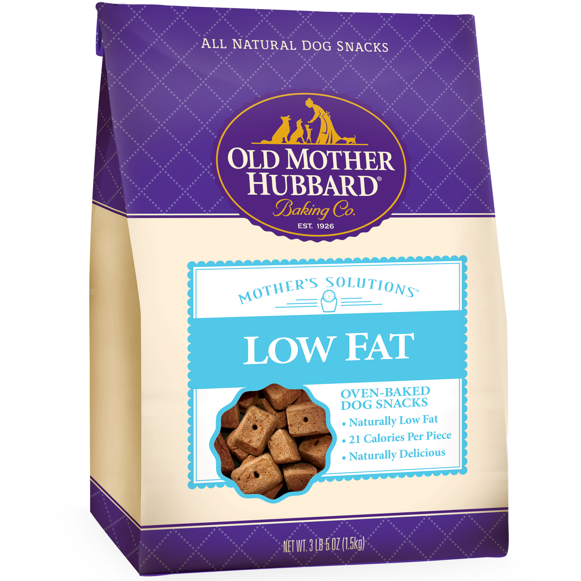 Old Mother Hubbard Mother's Solutions Low Fat Dog Treats, 3.5 Lb