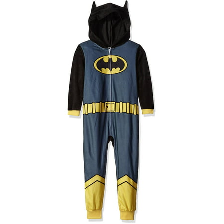 Justice League Boys' Batman Pajama Cosplay Union Suit, Size: 8 for $<!---->