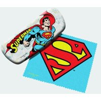 DC Comics Eyeglass Case with Cleaner Sheet (Superman) Multi-Colored