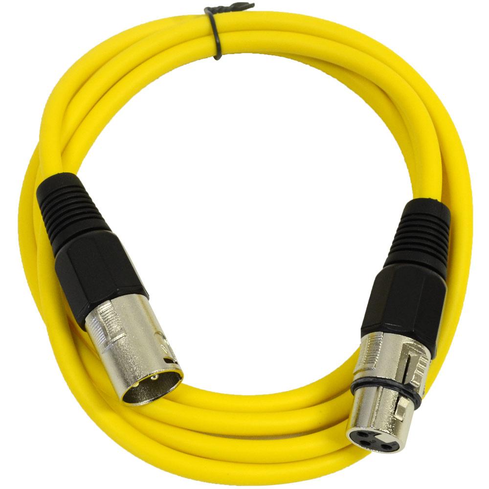 Seismic Audio  Yellow 6' XLR Patch Cable  Snake Mic Cord Yellow - SAXLX-6Yellow