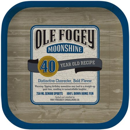 Over the Hill 'Ole Fogey' 40th Birthday Small Paper Plates (8ct) - 40th Birthday Paper