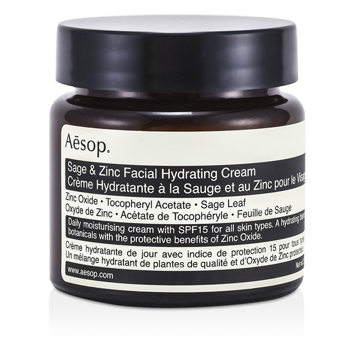 Aesop - Sage & Zinc Facial Hydrating Cream SPF15 -60ml/2....