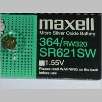 Maxell 364 - SR621 Silver Oxide Button Battery 1.55V - 5 Pack + FREE SHIPPING!