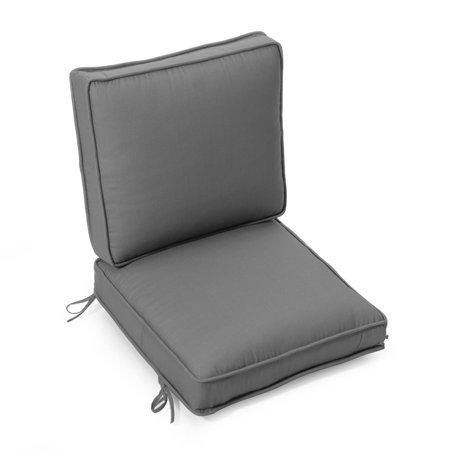- Coral Coast Nautical Boxed Edge Hinged Outdoor Deep Seating Chair Cushion