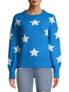 Heart N Crush Women's Novelty Star Crewneck Top