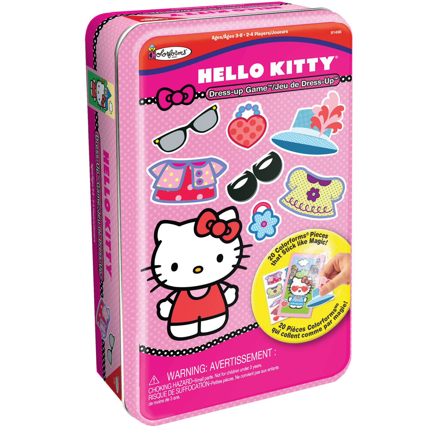 Hello Kitty Bilingual Dress-Up Game Tin by Colorforms