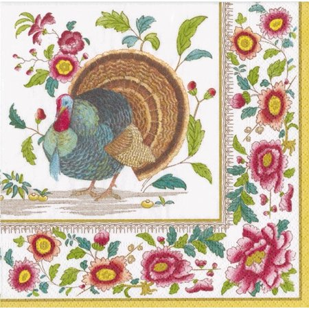 Fall Thanksgiving Paper Lunch Napkins 20pk Turkey Setting](Thanksgiving Napkins Paper)